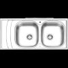 سینک توکار ایلیا استیل مدل 4054
