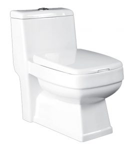 توالت فرنگی یک تکه ایساتیس مدل کیمیا (ریم جت)