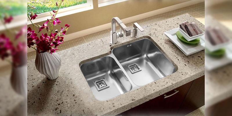 سینک ظرفشویی زیر صفحه ای