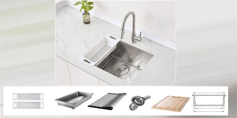 سینک ظرفشویی زیر صفحه ای لوازم جانبی